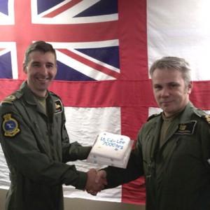 Lieutenant Commander from 750 NAS clocks up 7,000 hours