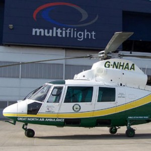 First of two N2 Dauphins launched by Great North Air Ambulance