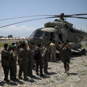 Afghan Air Corps conducts first Mi-17 & Mi-35 Combined Operation