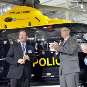 Eurocopter hands over new EC135P2+ to West Midlands Police