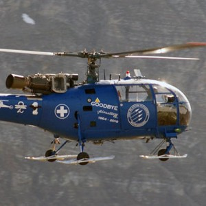 "Swiss Air Force say ""Goodbye Alouette 3 1964-2010"""