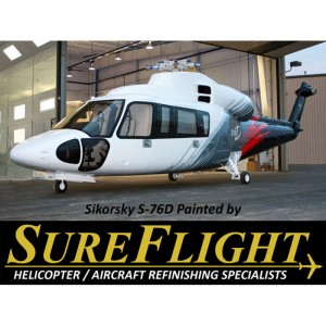 SureFlight offering free helicopter paint at Heli-Expo 2011 booth 1812