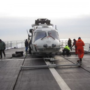 NLR helps with NH90 trials on Belgian Navy frigate