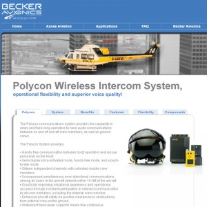 Becker Avionics launches dedicated website for Polycon wireless headset system