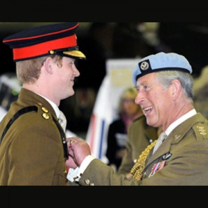 Prince Harry receives his wings – from Prince Charles