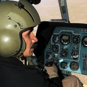 Afghan Mi-17 instructor pilot trains student for first time