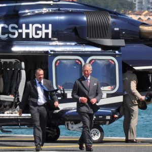 Heliportugal AW139 supports royal visit