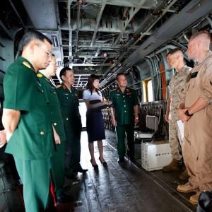 Vietnamese delegates tour Marine Corps Air Station Kaneohe Bay
