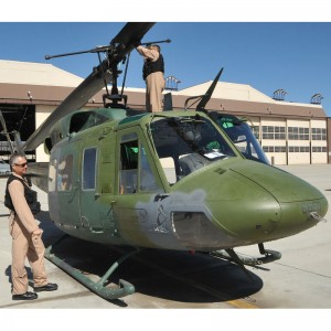 58th Special Ops Wing celebrates a UH-1H passing 15,000 airframe hours