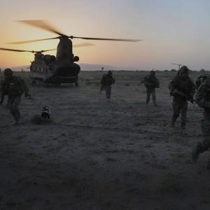RAF Chinook crews train for Afghanistan in California