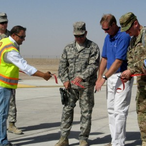 New rotary wing apron at Shindand complete
