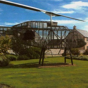 House builder donates helicopter sculpture to museum