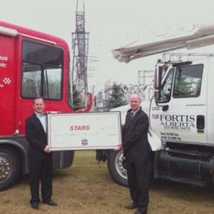 $400,000 contribution to STARS from FortisAlberta