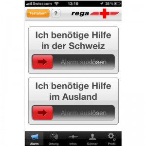 Rega's new emergency app now also for Android