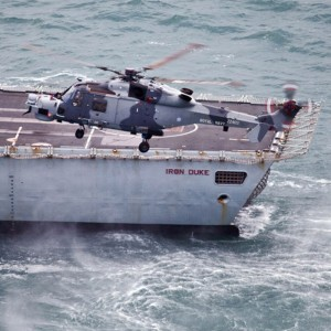 AW159 Wildcat completes sea trials on HMS Iron Duke