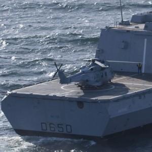 NH-90 Caiman makes first deck landing on FREMM Aquitaine