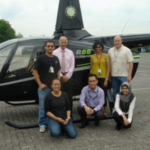 Mornington Sanford Aviation assist with R66 certification in Malaysia