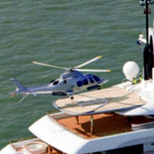 Superyacht Ilona gets a new helipad for GrandNew