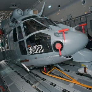 Airbus Military A400M demonstrates loading of NH90 and EC725