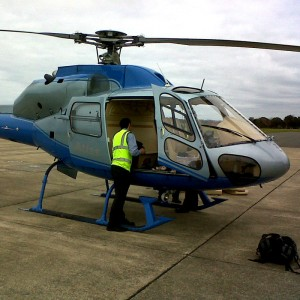 Guernsey Post hires in helicopter during airport closure