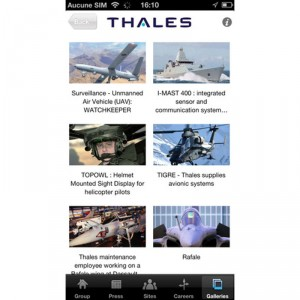 Thales launches iPhone application