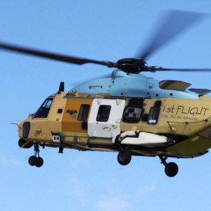 First flight of an NH90 assembled by Eurocopter Spain