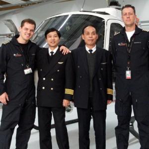 Civil Aviation Flight University of China trains – in Germany