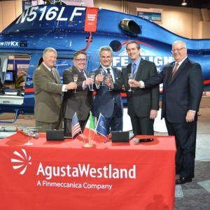 Life Flight Network Accepts its First AW119Kx Helicopter