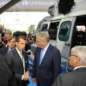 French Prime Minister visits Eurocopter at Paris Air Show