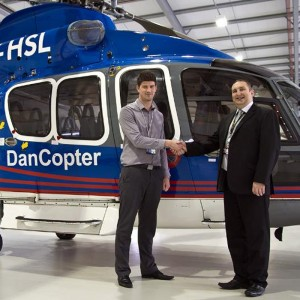 SaxonAir marks first anniversary of Dancopter handling contract