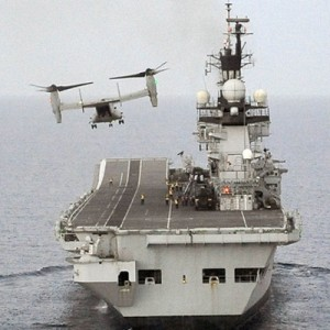 V-22 lands on British carrier for first time in six years
