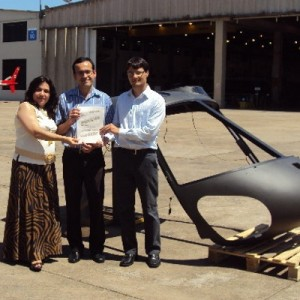 Helibrás donates material for scientific study