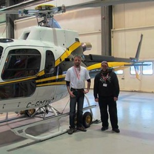 Yellowhead Helicopters take delivery of a new AS350B3e for heliski work