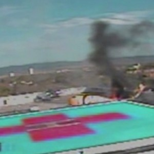 UNM Hospital releases video of PHI Air Medical AS350 accident