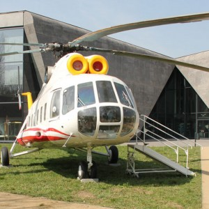 Papal helicopter put on display in museum