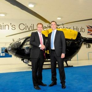 BIS Minister Matthew Hancock MP visits Britain's Civil Helicopter Hub