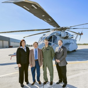 International Representatives View CH-53K Helicopter