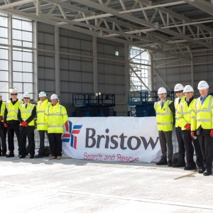 Bristow UK holds topping out ceremony for new SAR hangar at Newquay