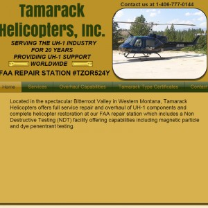 UH-1 MRO Tamarack Helicopters launches new website
