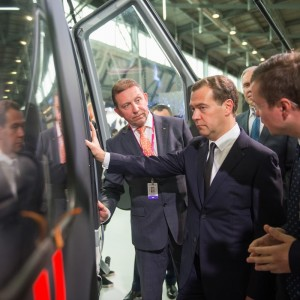 Russian Prime Minister Dmitry Medvedev views Ansat