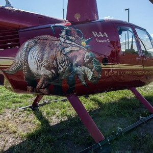 Aberta Dinosaur Museum premiers helicopter tours