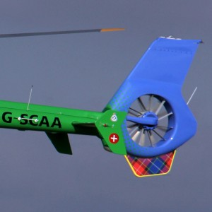 Bright colours revealed for EC135 for Scotland's Charity Air Ambulance
