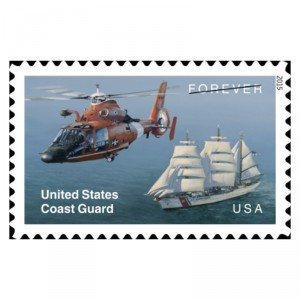 USPS launches US Coast Guard Forever Stamp with helicopter