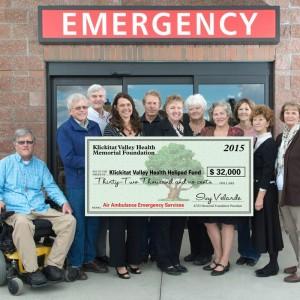 $32K donation to Klickitat Valley Hospital helipad fund