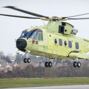 First Norwegian SAR AW101 takes to the air