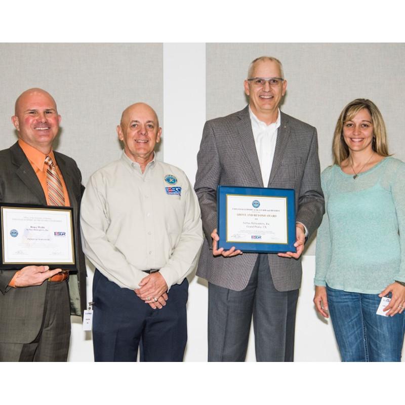 (Left to Right) Bruce Webb, Larry Thompson Texas ESGR, Jeff Trang and Lynn Hupp