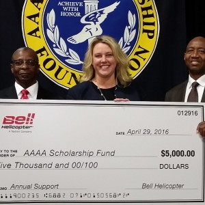 Bell donates $5K to Quad-A Scholarship Foundation