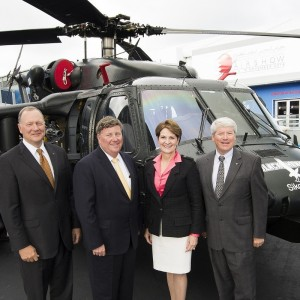 Sikorsky shows Polish built armed Black Hawk at Farnborough