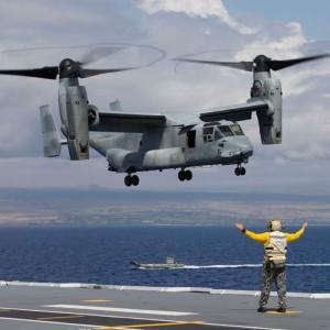 Royal Australian Navy hosts first MV-22 Osprey sea trials
