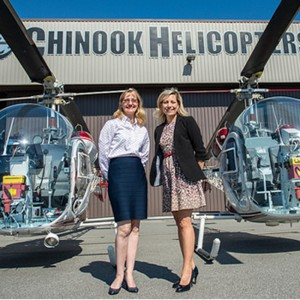 Chinook Helicopters and UFV explore helicopter pilot training
